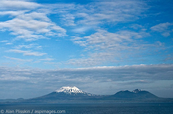 Although inactive, this volcano across the water from Sitka still looks quite menancing.