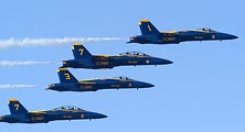 The Blue Angels perform during Fleet Week in San Francisco.