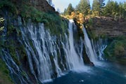The popular waterfall at Mcarthur-Burney Falls State Park in northeastern California.