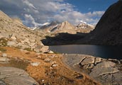 High Sierra lake at 10,500 feet near Mather Pass along the John Muir Trail.