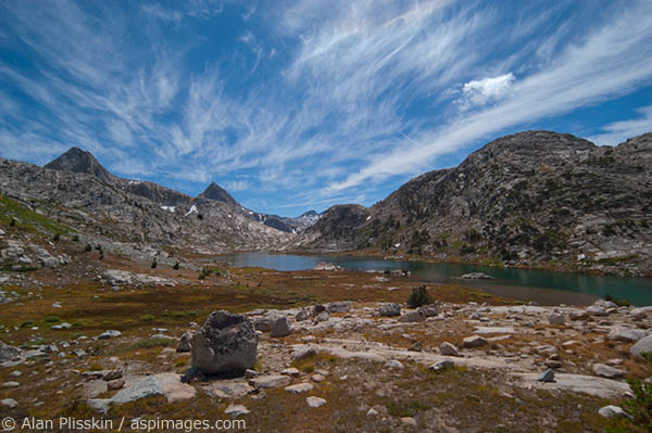 High Sierra backcountry along the John Muir Trail.