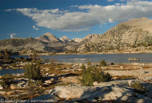 High Sierra lake at 10,500 feet elevation along the John Muir Trail.