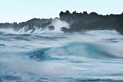 A large swell in the Pacific along the Big Island created massive, tumultuous waves.