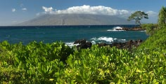 West Maui as seen from Wailea.