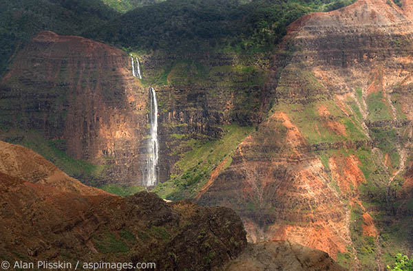 Waimea Canyon, the Grand Canyon of the Pacific, is adjacent to the wettest spot on earth.