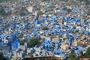 Jodhpur is also called the Blue City because all of the Brahma worshippers painted their houses blue.