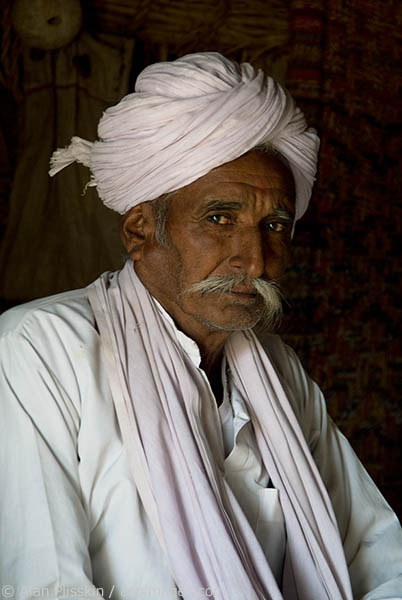 We enjoyed meeting this proud grandfather in the Jamba region of Rajasthan.