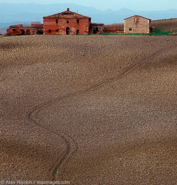 A plowed field in Tuscany.