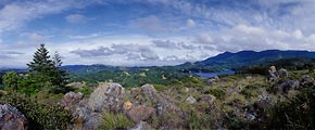 This panoramic images shows much of west Marin County's open space.