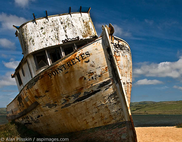 "Inverness is home to this historic shipwreck, the ""Point Reyes"""