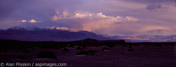 An approaching storm in Death Valley was cause for concern until it switched directions.