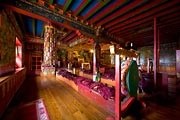 Colorfully decorated, I was able to photograph this monastery between prayer services.