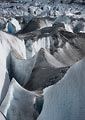 The glacier was filled with crevasses and interesting ice structures. This pyramid pair caught my attention immediately.